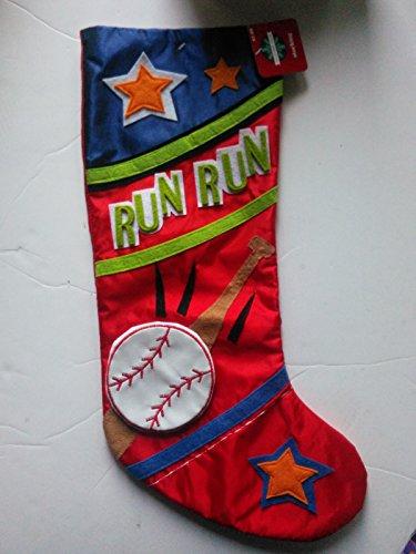 Christmas Stocking -Assorted Sports - Baseball Run Run , Basketball Slam Dunk , Soccer Goal
