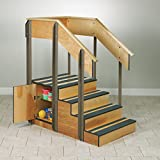 Clinton Therapy Stairs Storage Island with 2 Doors