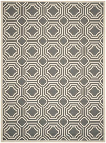 Safavieh Courtyard Collection CY6112-246 Anthracite and Beige Indoor Outdoor Area Rug 8 x 11