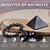 Polished Shungite Pyramid 2 Inches, Contains Carbon