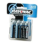 8 Pack Rayovac Stainless Steel 815-8CTF2 Alkaline PDQ Card Tray AA Battery 8 Count