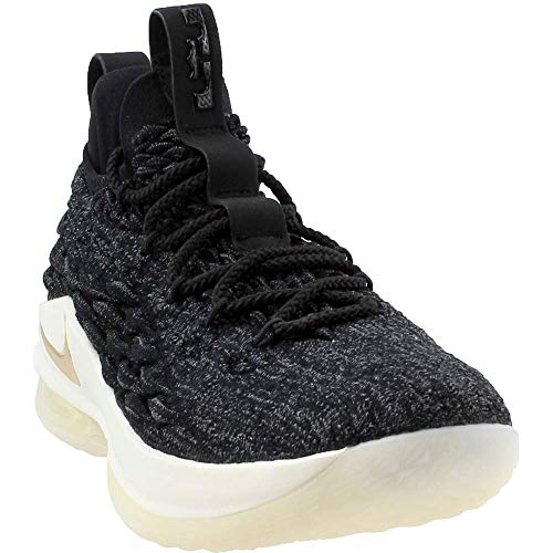 NIKE Men's Lebron 15 Low Basketball Shoes (10, Black/Gold)