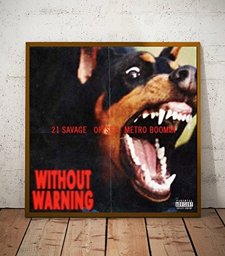 21 Savage Album Without Warning Limited Poster Artwork - Professional Wall Art Merchandise (More Sizes Available) (8x8)