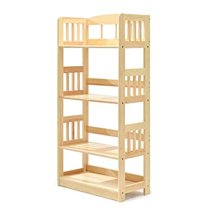 pretty nice 1303f db5ef Amazon.com: Standing Shelf Units Bookshelf Solid Wood Simple ...
