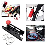 Quick Release Adjustable Fire Extinguisher Holder Mount Bracket for Jeep Wrangler UTV Polaris RZR Ranger Camper Van with Pillar