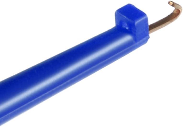 sourcingmap 10 Pcs 42mm Length Test Hook Clip Solderable for Multimeters PCB Tester Grabber Black