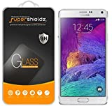 Samsung Galaxy Note 4 Tempered Glass Screen Protector, Supershieldz Anti-Scratch, Anti-Fingerprint, Bubble Free