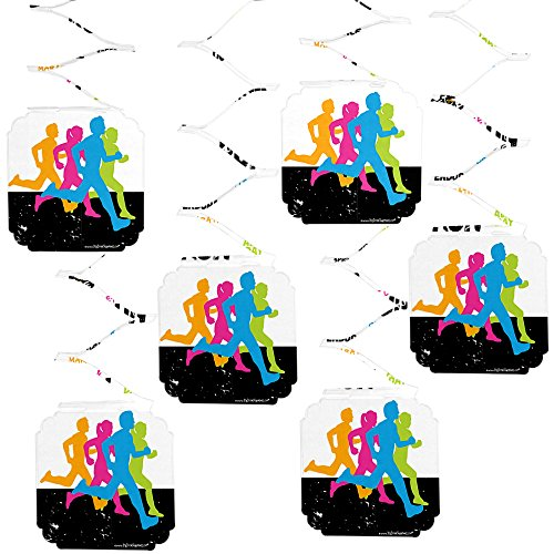 Big Dot of Happiness Set The Pace - Running - Track, Cross Country or Marathon Party Hanging Decorations - 6 Count