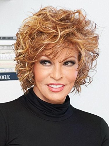 Chic Alert Wig  Color RL19/23SS SHADED BISCUIT - Raquel Welch Wigs Heat Friendly Synthetic Tousled Curly Lace Front Volume Women's Memory Cap (Lace Biscuit)