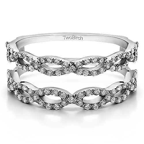 0.63 ct. Diamonds G,I2 Ring Guard in 14k White Gold (0.63 ct. twt.) (Size 3 to 15 in 1/4 Size Intervals)