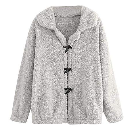 Linlink Mujeres Casual botón Retro Chaqueta de Manga Larga Abrigo Outwear: Amazon.es: Ropa y accesorios