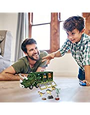 Dinosaurus Speelgoed voor kinderen, 3-7 met knipperende lichten, muziek en brullende geluiden, 11-in-1 dinosaurus, speelgoed, dinosaurus, autotransporter, speelgoed