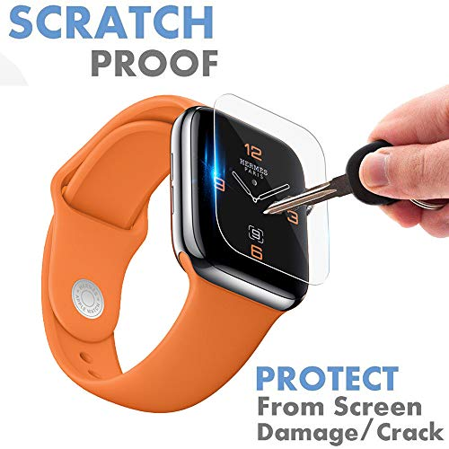 Clearance Sale!UMFun 5Pack HD Full Coverage TPU Screen Protector Film For Apple Watch Series 4 (40/44mm) (5Pack, 44mm) -