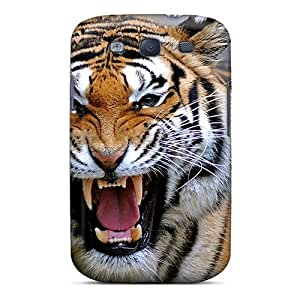 Premium KuQdcyy8045citoD Case With Scratch-resistant/ Angry Tiger Case Cover For Galaxy S3