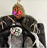 FakeFace 3.7ft Scary Halloween Hanging Ghost with