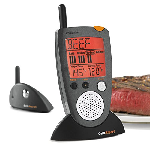 Brookstone BK798314 Grill Alert Talking Remote Meat Thermometer