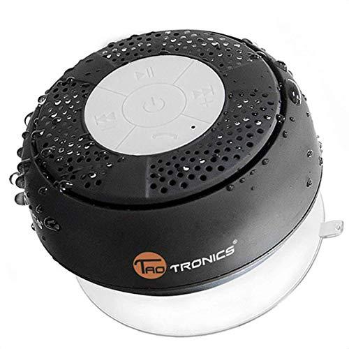 TaoTronics Bluetooth Shower Speaker, Water Resistant Portable Wireless Shower Speaker (Crisp Sound, Build-in Microphone)