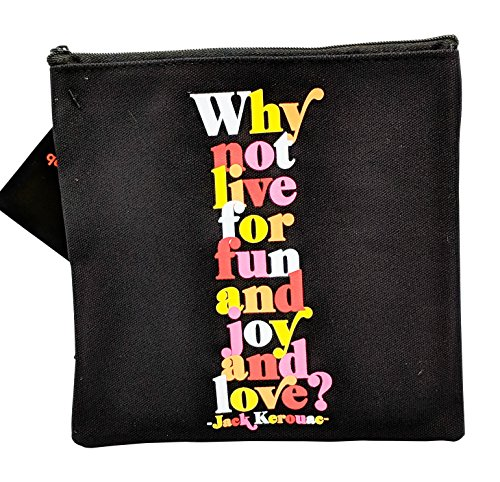 Stylish Makeup Bag Clutch Travel Kit Toiletry Case Canvas 3D Printed (Live for Fun & Joy & Love)
