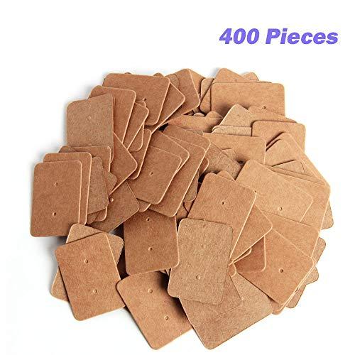 (SBYURE 400 Pcs Kraft Paper Earring Tags Ear Stud Card Earring Card Holder for Fashion Jewelry Design, Earrings,3.52.5cm )