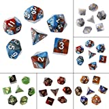 ULKEME 35pcs/Set Acrylic Polyhedral Dice For TRPG Board Game Dungeons And Dragons