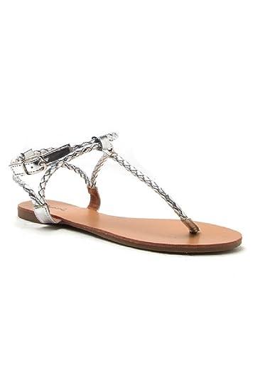 efeeb0a16cf8bb Qupid Braided Strap A-Run Sandal (5.5 B(M) US)