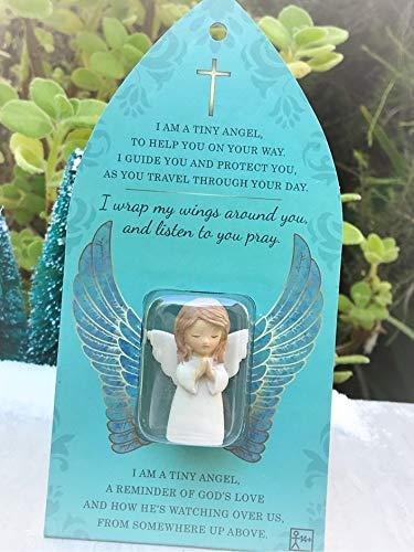 "Miniature Terrarium Micro Mini 1?"" H Praying Angel Figurine Token - Miniature Magic Scene Supplies Your Fairy Garden - Outdoor House Decor"