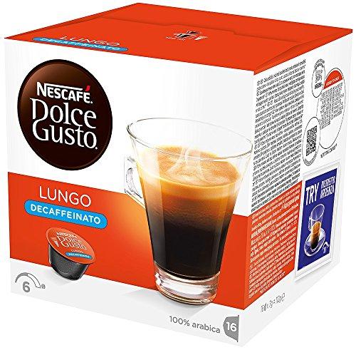 NESCAFE DOLCE GUSTO CAFÉ LUNGO DECAFFEINADO  (16 cápsulas/16 Tazas)