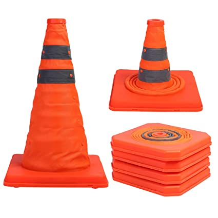 Portable Pop Up Safety Traffic Cone Collapsible Driving Road Safety Essential