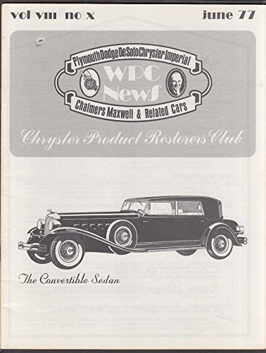 WPC NEWS 1932 Chrysler Imperial 6 1977