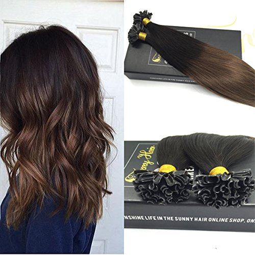 sunny-ombre-pre-bonded-u-tip-human-hair-extensins-1b-6-natural-black-to-brown-24-inches-silky-straig