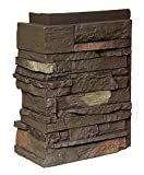 NextStone Country Ledgestone Faux Polyurethane Stone Outside Corner - Himalayan Brown - 4 Pack