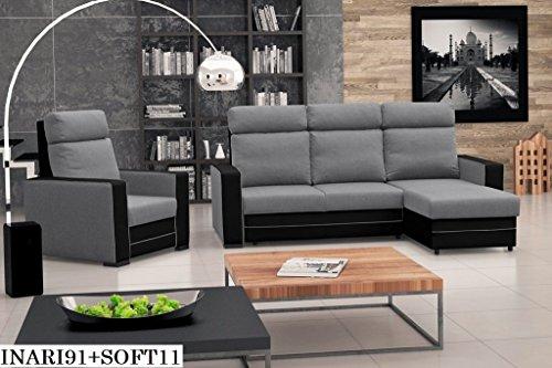 ecksofa couch mit schlaffunktion eckcouch polstergarnitur wohnlandschaft maxx bettmix. Black Bedroom Furniture Sets. Home Design Ideas