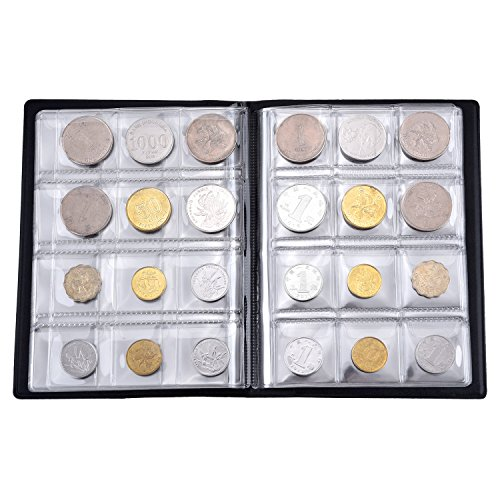Hotop 120 Pockets Coin Holder Collection Coin Storage Album Book for Collectors, Money Penny Pocket (Blue) Photo #4