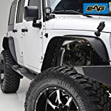 EAG Front+Rear Fender Flares Steel 4PCS for 2007-2018 Jeep Wrangler JK