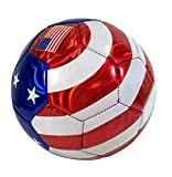 USA Flag Soccer Ball Summer Outdoor Sport Soccer Fan 2014 World Cup United States Ball Size 5!