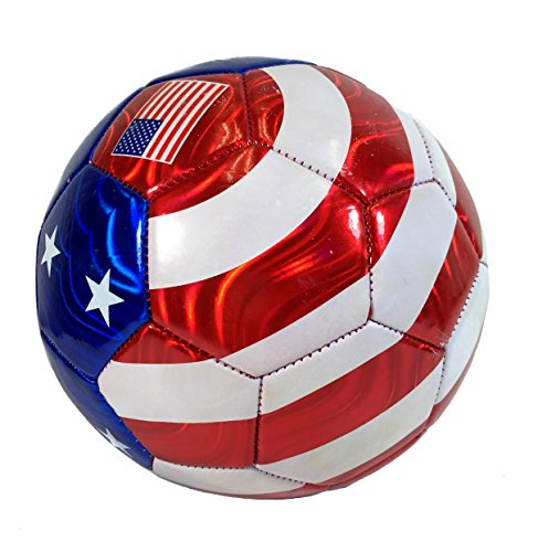 USA Flag Soccer Ball Summer Outdoor Sport Soccer Fan 2014 World Cup United States Ball Size ()