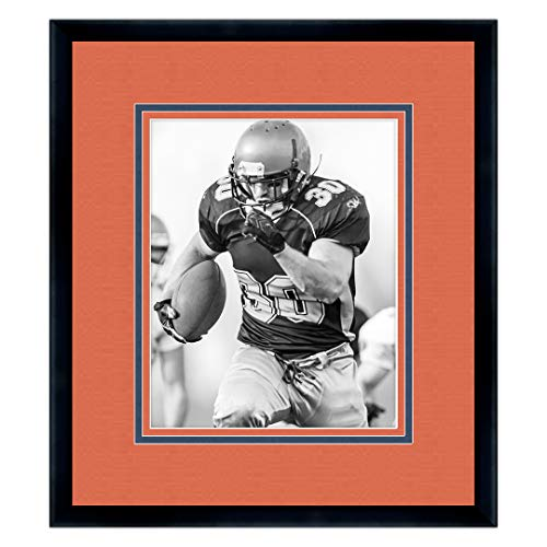 Sports Frames Auburn University Black Wood Frame with Tigers Triple Mat Colors - Made to Display 5