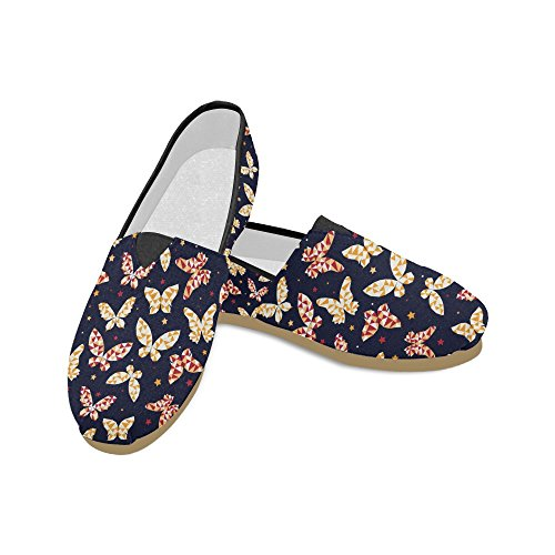 M-story Fashion Sneakers Flats Womens Classic Slip-on Scarpe Di Tela Mocassini A Farfalla
