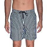 Beach Bros Men's Striped E-Board, Black, L