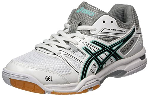 7 Asics de Blanc Volleyball Chaussures Cockatoo White Rocket Gel Black Femme qqprPEfx