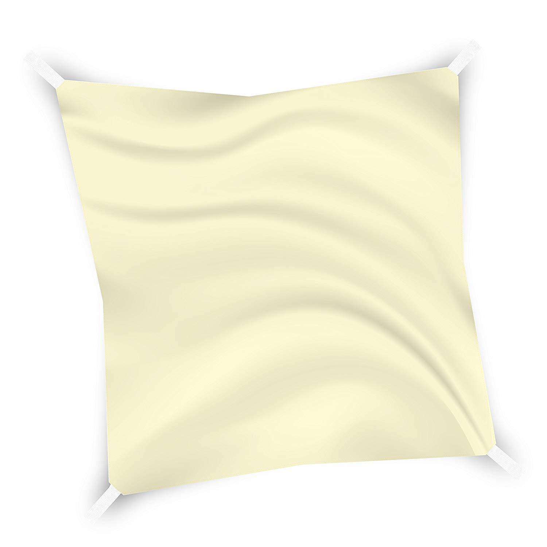 Bricok Tenda Da Sole Quadrata da Esterno, Protezione Dai Raggi UV, Resistente e Anti-Strappo, Tessuto in Polietilene, (3 x 3 m, Verde)