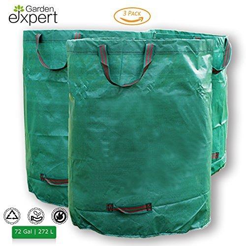 Garden EXPERT Garden Waste Bags 72 Gallons Reuseable-3 Pack by Garden EXPERT
