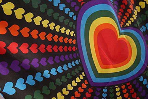 Heart Rainbow Ring Flag 3x5 Feet Love Indoor Outdoor Polyest