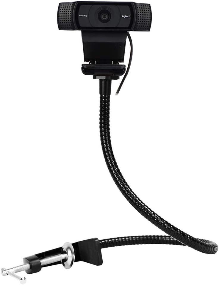 25 inch Flexible Jaw Long Arm Swivel Clamp Clip Mount Holder Stand for Logitech Webcam C925e C922x C922 C930e C930 C920 C615 Renewed
