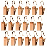 baotongle 120 pcs Metal Hook Clips, Hanging Curtain Clips Curtain Hook Clips Hanger Connector Accessories for DIY,Photos,Home Decoration Gold