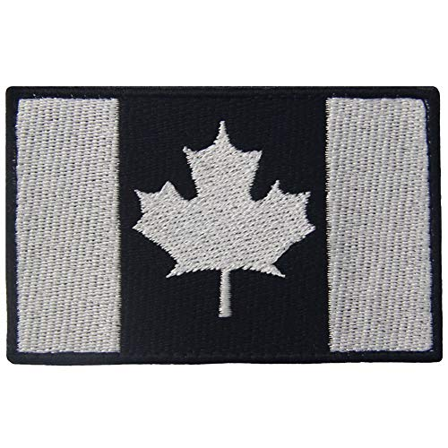 Tactical Canada Flag Patch Embroidered Morale Applique Fastener Hook & Loop Emblem