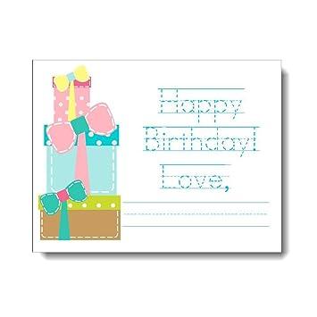 Amazon.com: Pila de regalos Cumpleaños Tarjetas de nota ([12 ...