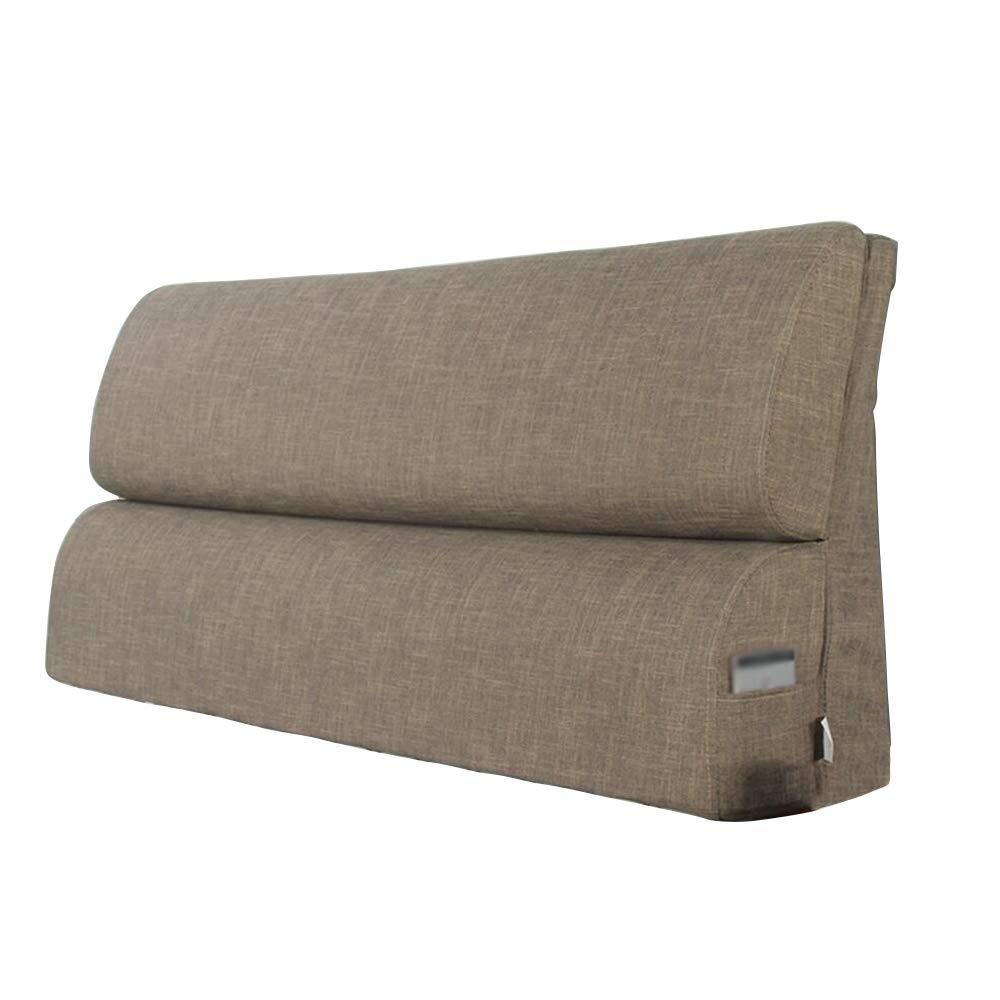 Cuscino testata letto matrimoniale in tessuto/poggiatesta grande/foderato in vita lavabile/comodini imbottiti morbidi imbottiti (Colore : A, dimensioni : 123 * 55cm) XIN XIN EU
