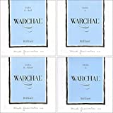 Warchal Brilliant 4/4 Violin String Set - Ball End E - Silver D - Medium Gauge