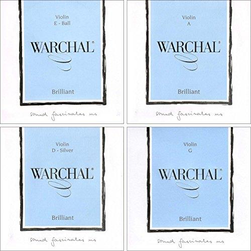 Warchal Brilliant 4/4 Violin String Set - Ball End E - Silver D - Medium Gauge from Warchal